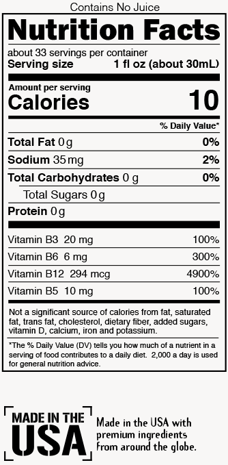 Tropical Nutrition Label