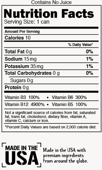 Cherry Blast Nutrition Label