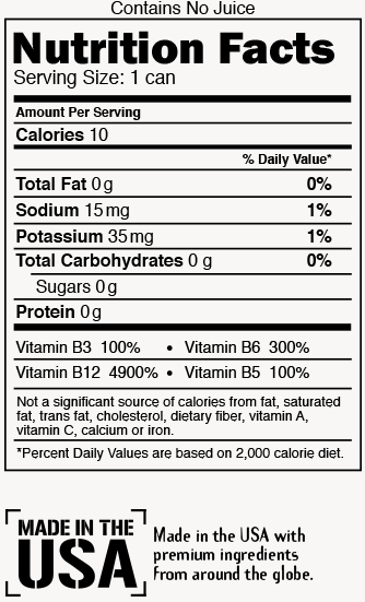 Citrus Blast Nutrition Label