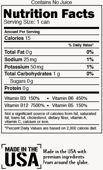 Summit Blast Nutrition Label