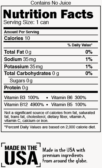 Tropical Blast Nutrition Label