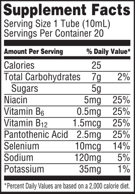 Fruit Punch Nutrition Label