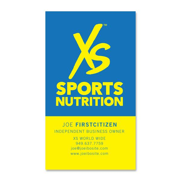 xs sports nutrition business cards 250 cards xsgear